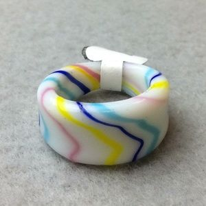 New Pastel Swirl Glass Ring
